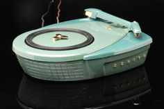 "Vintage Zenith ""Disc Jockey"" semi-automatic 3 speed phonograph, model S-9017, circa 1956."
