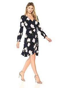 awesome Ellen Tracy Women's Full Sleeve Wrap Dress