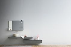 MOODE Meuble sous-vasque en ecomalta by Rexa Design design Monica Graffeo Bathroom Furniture Design, Bathroom Interior Design, Bad Inspiration, Bathroom Inspiration, Metal Easel, Wooden Facade, Small Space Bathroom, Bath Cabinets, 3d Studio