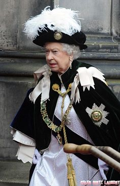 Queen Elizabeth II at the Order Of The Thistle Ceremony