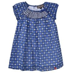 989e40a5c Jean Bourget Girls Blue Metro Dot Summer Shift Dress from Jean Bourget -  France at Pumpkinheads