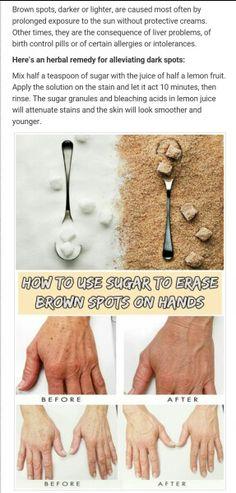 Sugar & Lemon Juice to Make Hands Look Younger