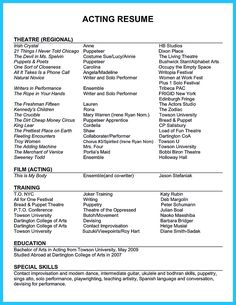acting resume sample presents your skills and strengths in details the acting resume objective