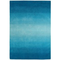 Peacock Ombre Stripe Rug 5x8 ($250) ❤ liked on Polyvore