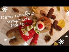 RENO NAVIDEÑO AMIGURUMI. PARTE 1 - YouTube Christmas Crafts, Merry Christmas, Christmas Ornaments, Crochet Disney, Amigurumi Tutorial, Amigurumi Doll, Free Pattern, Diy And Crafts, Make It Yourself