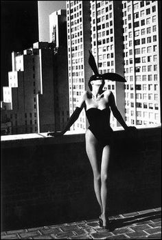 Art Helmut Newton photography - not sure if the the backdrop of the buildings is representational of a masculine presence