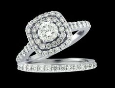 Double Hallow Diamond Engagement Ring  www.ozcaninc.com www.facebook.com/ozcaninc.