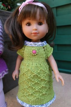 Tuto robe point de grille pour poupée ARIAS, poupée Paola-Reina, poupée Corolle....