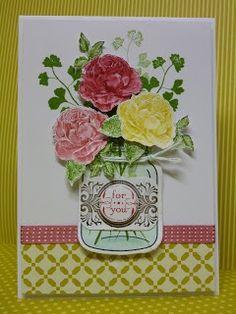 papaya collage stampin up | Papaya collage with perfectly preserved jar | Stampin Up