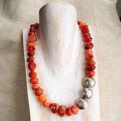 Carnelian and Silver Necklace  £149.00