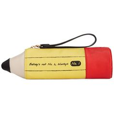 Betsey Johnson Macy's Exclusive Pencil Case found on Polyvore