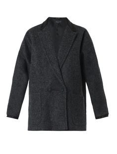 $377, Rag Bone Primrose Wool And Leather Coat by Rag and Bone. Sold by MATCHESFASHION.COM. Click for more info: http://lookastic.com/women/shop_items/141553/redirect