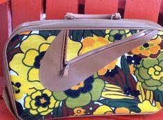 Vintage Flowered Suitcase, Flower Power Suitcase - http://oleantravel.com/vintage-flowered-suitcase-flower-power-suitcase