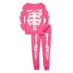 Carter's® 2-pc. Pink Glow-in-the-Dark Skeleton Pajamas - Girls 12m-24m - jcpenney
