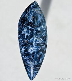 High Chatoyancy Electric Blue Namibian Pietersite Gemstone Cabochon © 2015 LEXXSTONES.COM