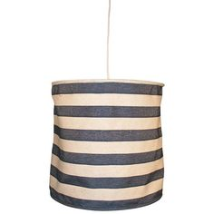 I pinned this Small Cabana Stripe Pendant in Navy from the Cindy Ciskowski event at Joss and Main!
