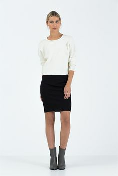 Ponte Seamed Skirt - Country Road