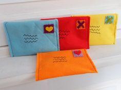 Stoffen enveloppen voor je brief naar of van Sinterklaas!