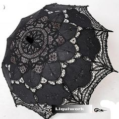 Gothic wedding clutches | Black Lace Gothic Wedding Bridal Sun Parasol Umbrellas Parasole Shop ...