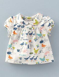 T-Shirt mit hübschem Kragen 71467 Oberteile bei Boden