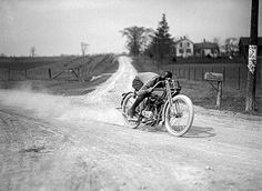 From the Harley Davidson Archives - early 20th century racer...