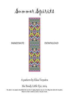 Bead Loom Patterns, Beading Patterns, Loom Pattern, Tutorial Colorful Pattern…