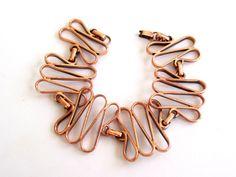Renoir Copper Link Bracelet Vintage RENOIR Copper by TheCopperCat