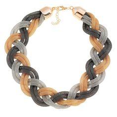 Ruby Rocks Multi Twist Mesh Collar Necklace