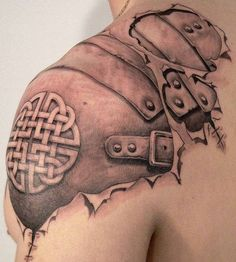 Leather Armor and Celtic knot tattoo