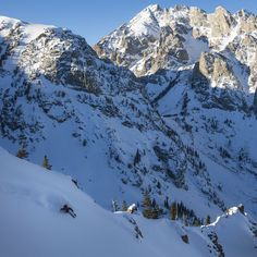 skiing into Grand Teton National Park. Grand Teton National Park, National Parks, Jackson Hole Skiing, Mount Everest, Mountains, Nature, Travel, Naturaleza, Viajes
