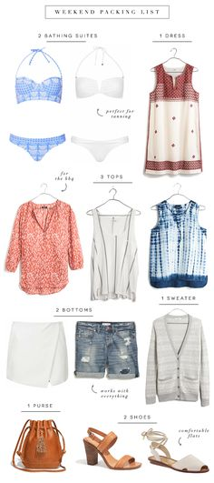 weekend packing list