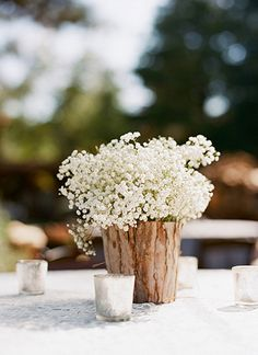 Creative rustic centerpiece