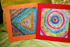 "Love this!! Make It... a Wonderful Life: Crayon-Shoe Polish ""Batik"" Tutorial"