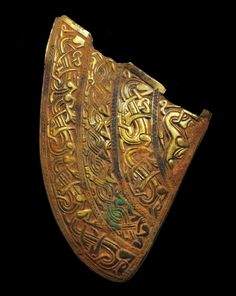 b12ba0be0c02 Helmet cheek plate from the Staffordshire Hoard Viking Jewelry, Ancient  Jewelry, Archaeological Discoveries,