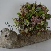 Snail Topiary Garden Art Pot Planter - via @Craftsy