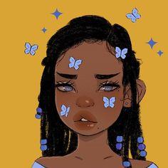 Black Love Art, Black Girl Art, Cute Art Styles, Cartoon Art Styles, Cool Art Drawings, Art Sketches, Drawings Of Love, Indie Drawings, Cartoon Drawings
