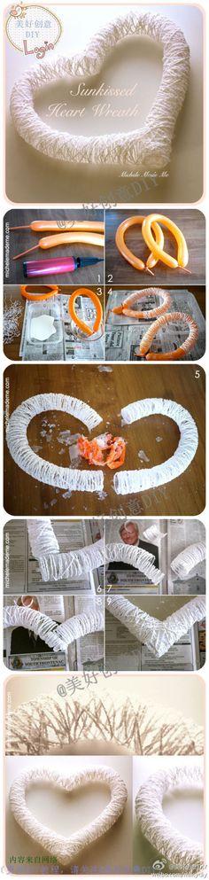 兔小贩——手工DIY>心形挂件装饰