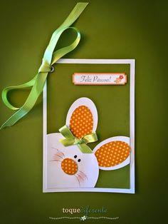Cartão de Feliz Páscoa! Coelhinho cortado com a Silhouette Cameo  Easter card using Silhouette Cameo