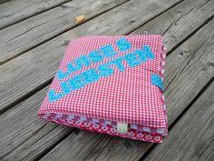 Fotoalbum  aus Stoff Kinder Luises Liebsten von Schnickel und Schnackel auf DaWanda.com Lunch Box, Etsy, Pictures, Photograph Album, Bento Box