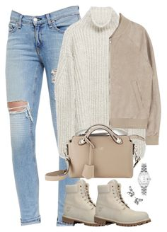 """Unbenannt #1965"" by luckylynn-cdii ❤ liked on Polyvore featuring rag & bone/JEAN, Zara, Timberland, Fendi, Lonna & Lilly and Rolex"