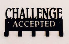 challenge, challenge accepted, runner, athlete, marathon, triathlete, triathlon, medal display, Christmas present, gift