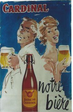 Poster by Ralph Chavannes / Cardinal - notre bière / ca. 1960