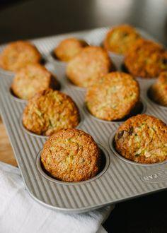 Zucchini Oat Chocolate Chunk Muffins | Used orange zest and OJ instead of chocolate...enconfidante.com
