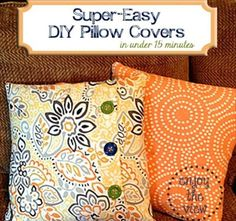16 Inspired DIY Pillow Ideas | DIY and Crafts