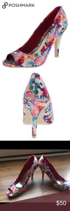 Christian Siriano Peep Toe Brand: Christian Siriano Size: 10 Color: Floral Print Style: Peep Toe Heel Size: 3.75 Inch  Buyers can expect: Careful packaging, Fast shipping, & Delivery confirmation with each item purchased! PET FREE HOME & SMOKE-FREE HOME. Christian Siriano Shoes Heels
