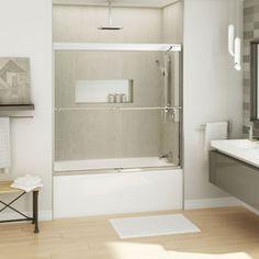 halo sliding tub door maax for second floor tub shower door