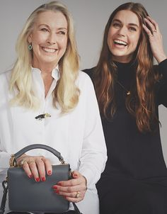 Sophie and her mum with the Charcoal Grey Finsbury. A minimal style to carry all day, every day. Minimal Fashion, Minimal Style, Sophie Hulme, Mother Day Gifts, Carry On, Charcoal, Grey, Gift Ideas, Minimalist Style