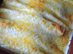 Thee best chicken enchiladas with white sauce (from Bakerette) Enchilada Recipe With White Sauce, White Sauce Enchiladas, Best Chicken Enchilada Recipe, White Sauce Recipes, Enchilada Recipes, Chicken Enchiladas, Chicken Recipes, Recipe Chicken, Mexican Dishes