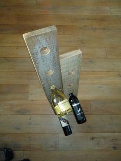 Wijnrek van pallet hout.