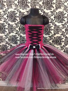 Monster High Tutu Dress, Pink, White and Black Tutu Dress, Children's Tutu Dress, Pink Newborn to 6T Tutus, Pink, White and Black Tutu Dress by LittleMissTrendyTutu on Etsy https://www.etsy.com/listing/241032138/monster-high-tutu-dress-pink-white-and